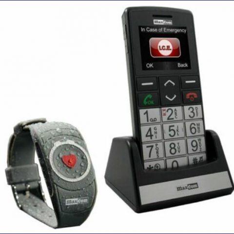 Seniorenhandy mit Notrufarmband, Mobile Senior Maxcom MM715